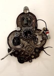 OROLOGIO composizione di pezzi di motorini-moto